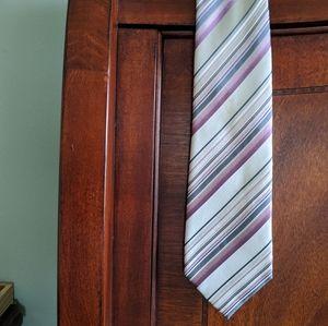 Tan and Purple Striped Tie